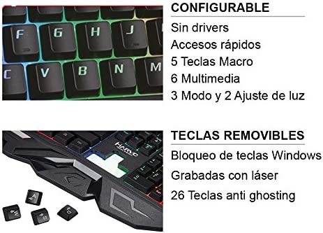 Avenzo Scorpion MA-KG760 SP - Teclado Gaming Español, color ...