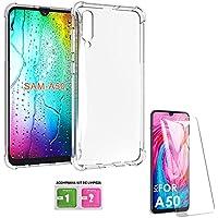 Capa Anti Shock Samsung Galaxy A50 2019 + Película de Gel Transparente, Acompanha Kit de Limpeza Tela