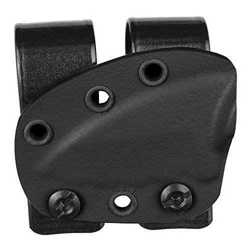 "Minimalist designed Ka-Bar 2"" TDI Sheath in Black with Double Belt Loops by Galloway Precision"