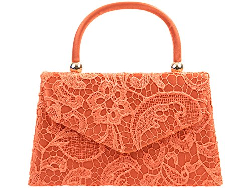 Purser Bag Top Women's Coral Wedding Clutch Handbag Lace Body s Bags Evening Cross LeahWard wqvxaXSS