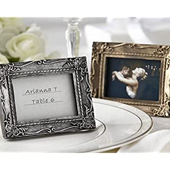 antique gold place card holder picture photo frame