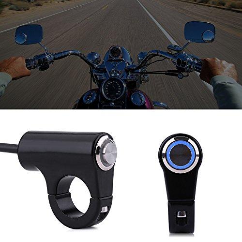 Anauto 22mm Motorcycle Handlebar Mount Switch Push Button Headlight Brake Fog Lights ON/Off(B)