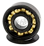 7 8 bronze bushing - VXB Brand 16 Roller Skate Black Bearings with Bronze Cage and Black Seals 8x22x7 mm Type: Roller Skate Black Bearing Color: Black Closures: 2 Removable Seals