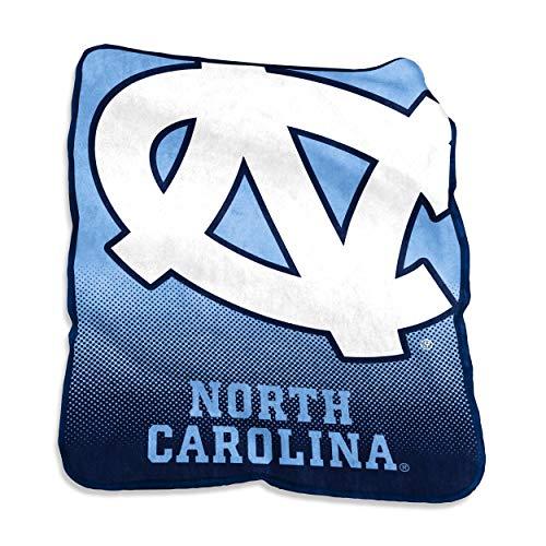 Logo Brands NCAA North Carolina Tar Heels Raschel Throw, One Size, Powder