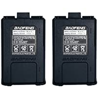 2pcs Baofeng 7.4V 1800mAh Capacity Li-ion Battery for DM-5R UV-5R UV-5RE BF-F8HP UV-5R V2+ Plus UV-5RTP Series Two Way Radio Accessories (Black)