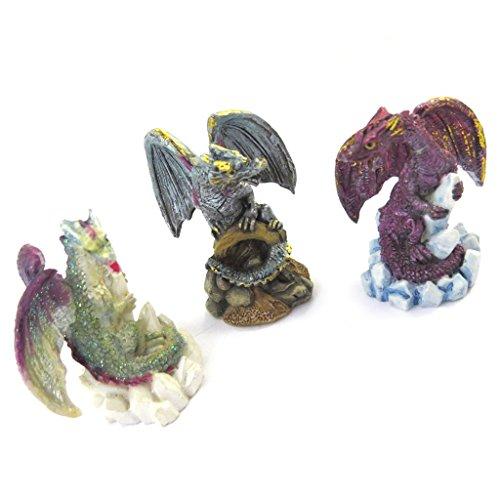 Bronze Mystique Art (3 figures 'Dragons Mystiques' tutti frutti.)