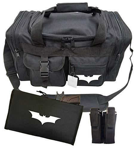 2ND AMMENDMENT Tactical Duffel Bag Gun 17 Inches Range Bag Gym Shooters Pistol Bag (Batman)]()