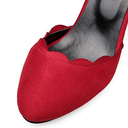 Material UH Rojo de Mujer de Tira Tobillo Sintético nnqUgwvZ