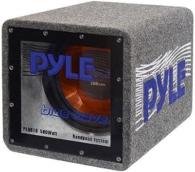 Pyle PLQB10 subwoofers para coche Altavoz de subgraves (subwoofer) con caja acústica: Amazon.es: Electrónica