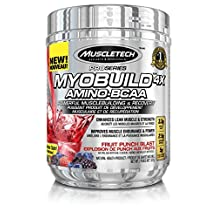 MuscleTech pro series myobuild, bcaa powder, fruit punch, 30 serving