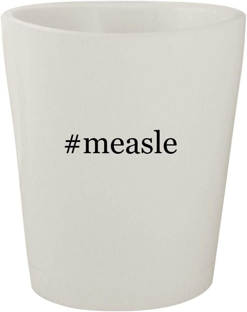 #measle - White Hashtag Ceramic 1.5oz Shot Glass