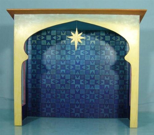 Jim Shore - Heartwood Creek - Blue Nativity Stable Creche by Enesco - 4007985 for $<!--$59.99-->