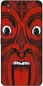Snoogg Aztec Face Designer Protective Back Case Cover For One Plus X