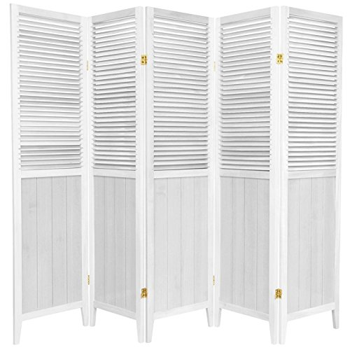 ORIENTAL FURNITURE 6 ft. Tall Beadboard Divider - White - 5 ()