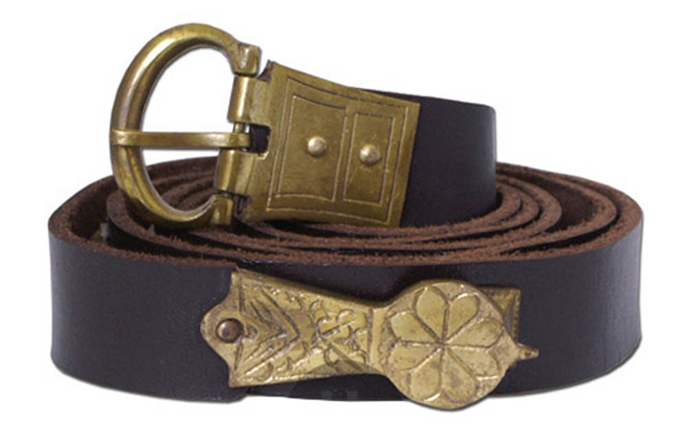 Lunga media età listello decorativo cintura in pelle con bor e - stile medievale età media costume da vi ngo