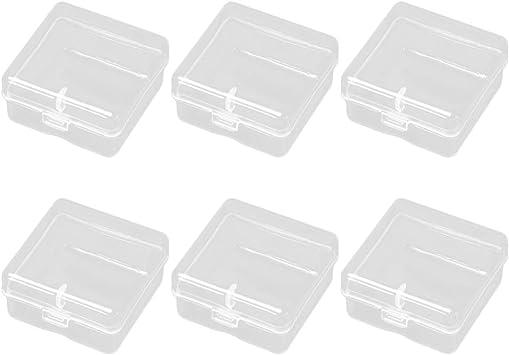 Petit de rangement en plastique clair Boîte Cas Avec Couvercle
