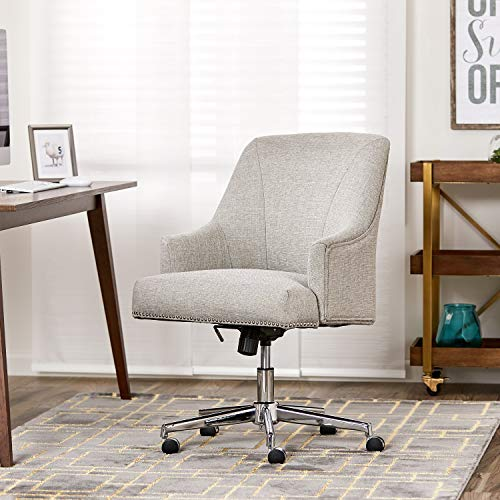 "Serta ""Leighton"" Home Office Chair, Lure Light Gray"