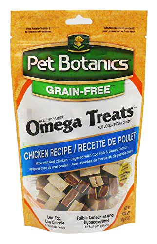 - Pet Botanics Grain Free Healthy Omega Treats For Dogs, Chicken, 12-Ounce