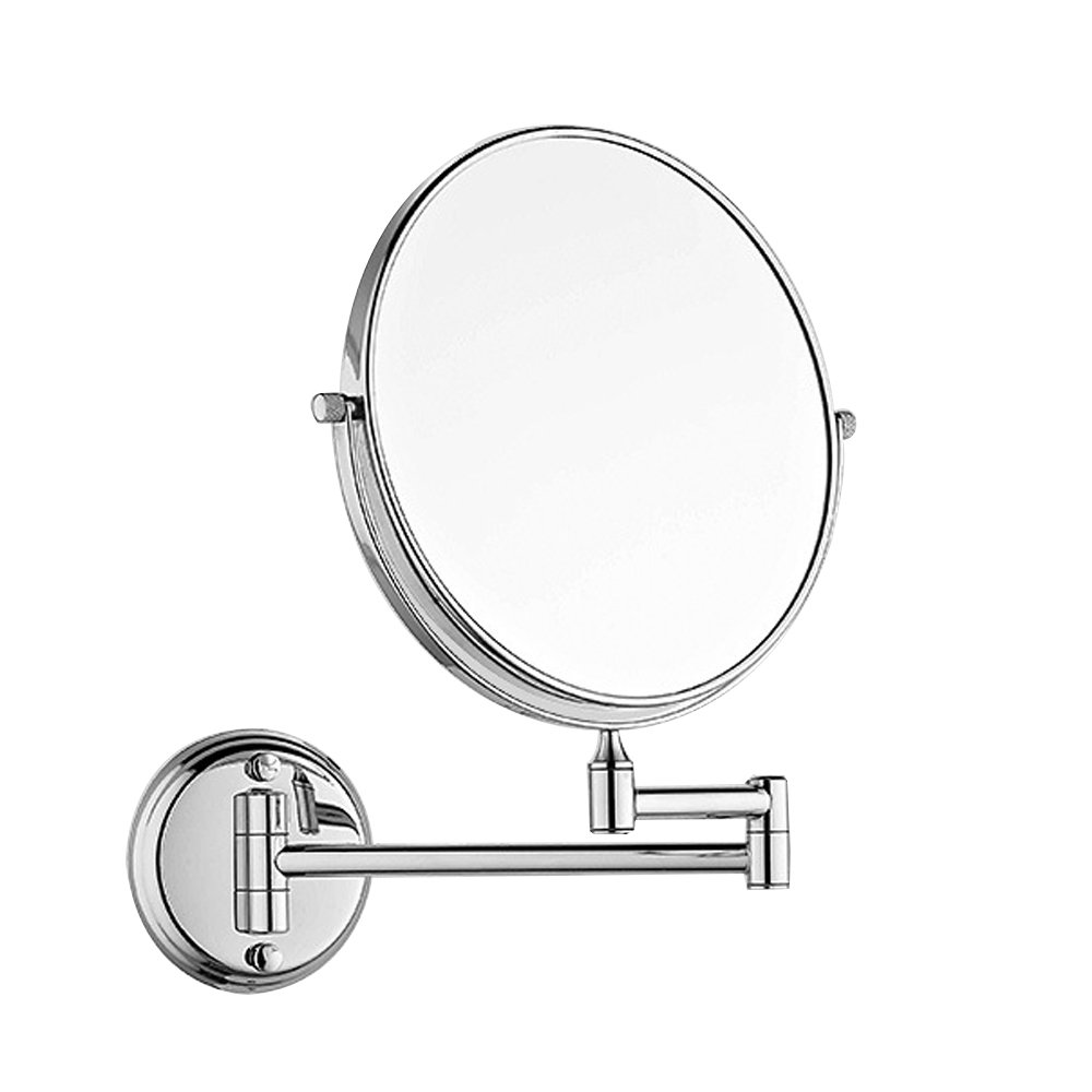 Wall Mount Makeup Mirror 3x Magnification Bathroom Swivel Two-Sided 8-Inch, Polished Chrome
