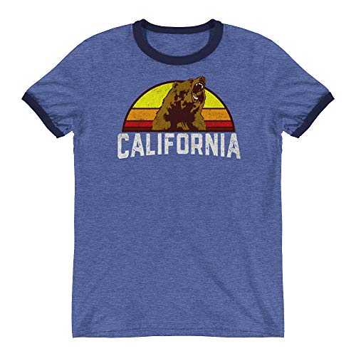 Styleuniversal California Republic Retro Ringer T-Shirt