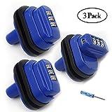 RioRand 3 Digit Combination Gun Lock Fits Pistols Hand Gun Rifles BB Gun Shotguns Blue(3PCS)
