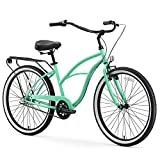 sixthreezero Around The Block Women's 3-Speed Beach Cruiser Bicycle, 24' Wheels, Mint Green, 14'/One Size