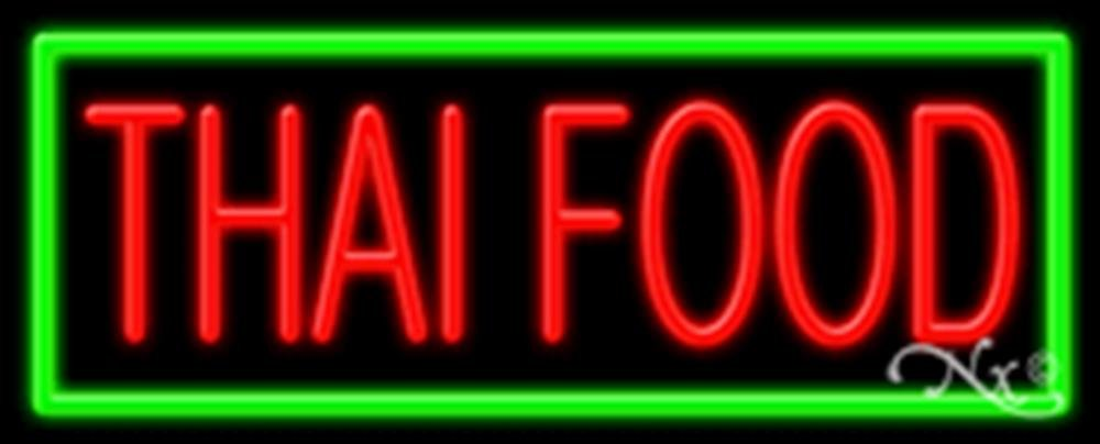 13x32x3 inches Thai Food NEON Advertising Window Sign