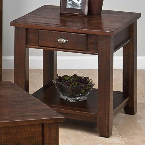 Jofran End Table in Urban Lodge Brown