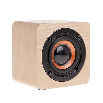 Amazoncom Carise Bluetooth Speaker Mini Wooden Portable Wireless