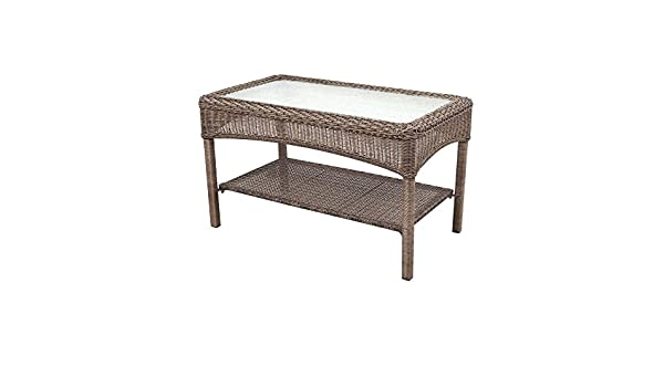 New Amazon Martha Stewart Living Charlottetown Brown All Weather Wicker Patio Coffee Table Garden & Outdoor Beautiful - Awesome resin wicker side table Review