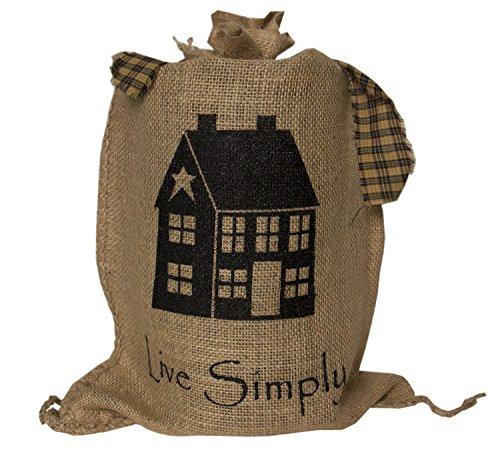 MTC Burlap Lamp ~ Saltbox House ~ Live - Willow Saltbox