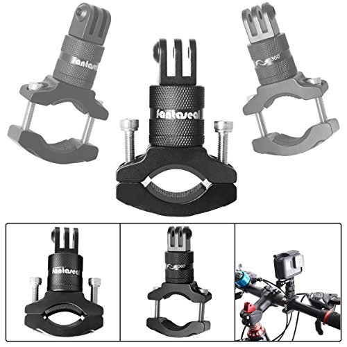 Action Camera Bike Mount Compatible with GoPro 360 Degree Rotary Bike Bicycle Handlebar Mount Clamp GoPro Aluminum Alloy Bike...