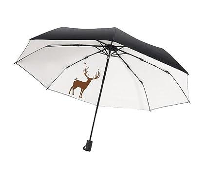 Paraguas Plegable Paraguas de Viaje Plegable y Ligero A Prueba de Viento Manuales Paraguas de Estudiante