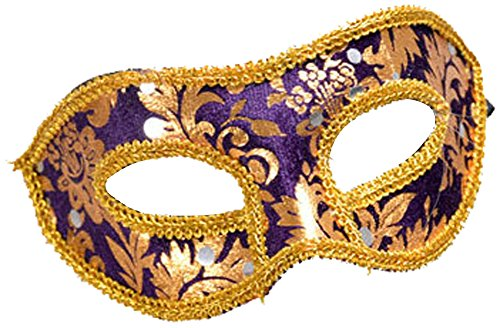 Making up Men's Masquerade Christmas Halloween Ball Party Half Face Masks (Purple) for $<!--$6.99-->