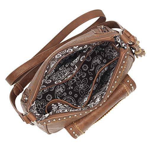 Light Concealed Charm Crossbody Bandana American Stone Puse Cary Top West Zip Bundle Handbag w 7pWTvq