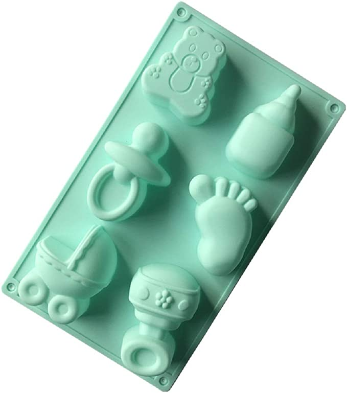 Mould Chocolate Soap Fondant Cake Baby Shower 3D Baby Foot Silicone Mold