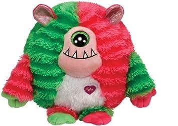 Ty Monstaz Spike Monster - Monstruo de peluche, color rojo y verde - Peluche Monstaz