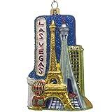 "CDL 5 inches Las Vegas Ornament souvenirs Christmas ornaments travel memorabilia glass blown glass ornaments for Christmas gift (5"", Las Vegas G68)"