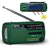 OLSUS FM Radio Crank Dynamo Solar Emergency Radio - Green
