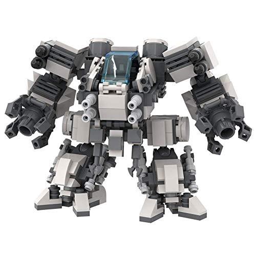 LionMoc Walking War Squadron Two-Legged Combat Robot Mecha Compatible with Lego Building Set Moc DIY Building Block Machine (Walking War Squadron-White)