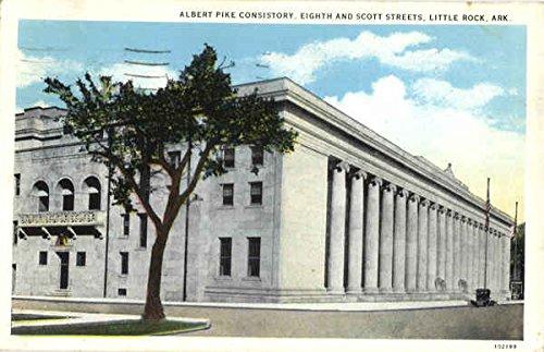 (Albert Pike Consistory, Eighth and Scoot Streets Little Rock, Arkansas Original Vintage Postcard)