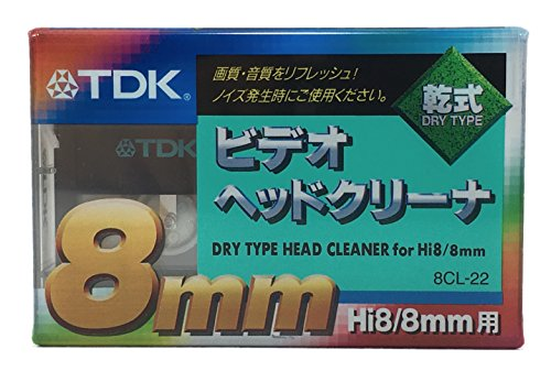 TDK 건식 8mm 비디오 헤드 클리너 Hi8 8mm 용 8CL-22 / TDK Dry 8mm Video head cleaner for HI8 8mm 8cl-22