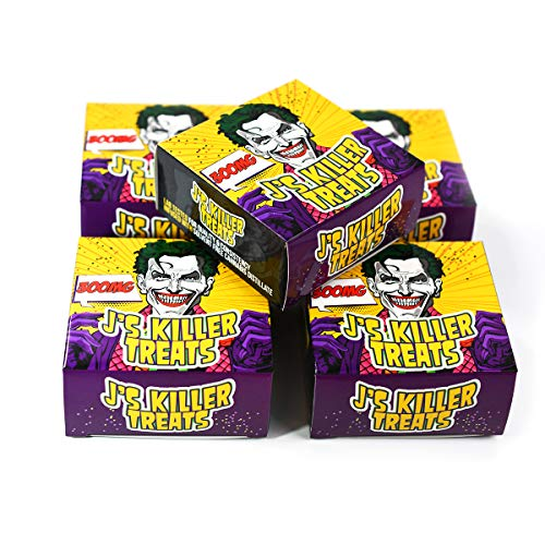 EMPTY J's Killer Treats Snacks Display Boxes Packaging for Edibles 3 x 3