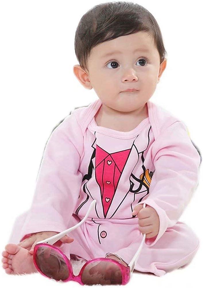 Bebé Ropa de niña Traje de médico Largo Rosa Mameluco Mono Infantil de algodón Camisa de una Pieza: Amazon.es: Ropa y accesorios