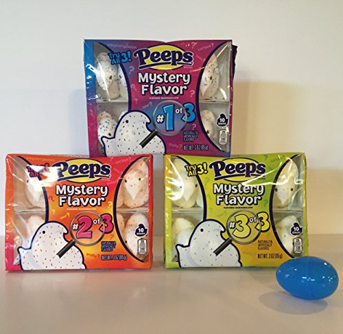 Peeps Marshmallow Chicks Variety Mystery Flavored Packs: 3 Boxes, 10 Peeps Each. Mystery Box #1, Box #2, and Box #3 Plus a BONUS FREE