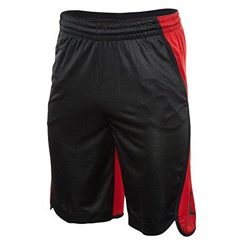 Basketball Jordan Shorts Air (NIKE Men's Air Jordan Flight Basketball Shorts Black Red AA5581 011 (l))