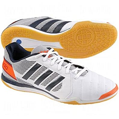 5ed600c11 Amazon.com | adidas Mens Freefootball Top Sala Indoor Soccer Shoe 8 US  White/Navy/Orange | Soccer