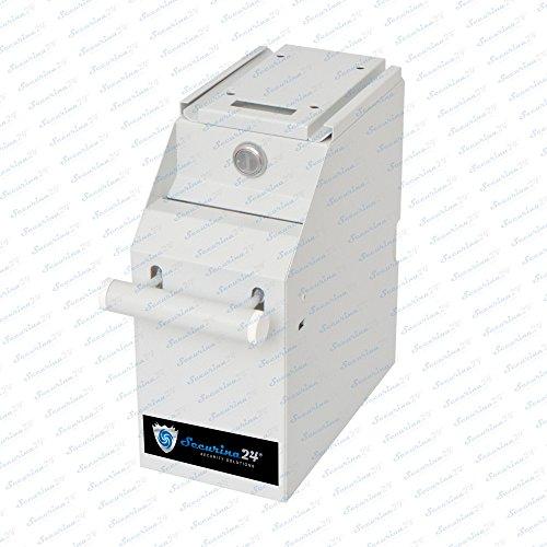 Geldtresor Tresor Pos Safe Geldschrank Kasse Geldzähler Geldkassette Kassensafe von Securina24® (Silbergrau)