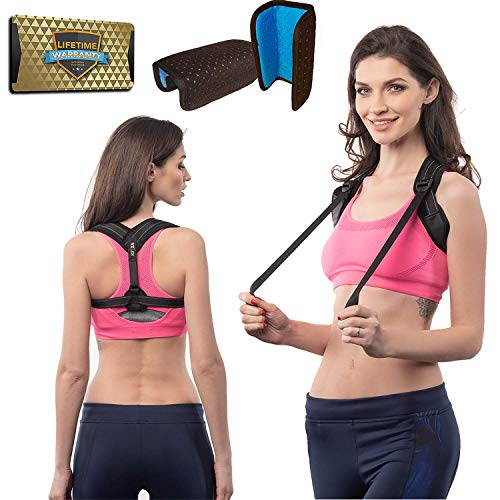 RFZA Posture Support for Women & Men, Posture Corrector Device, Corrects Slouching, Hunching & Bad Posture, Posture Corrector Under Clothes for Women and Men, Chest (28
