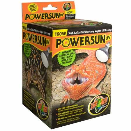 - Zoo Med PowerSun UV UVB (160 watt)